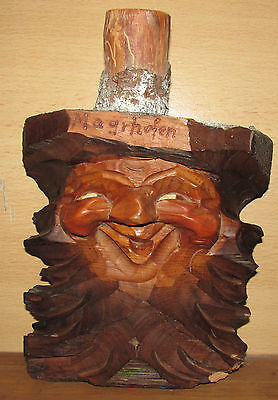 Wooden German Vintage Carved Tree spirit face