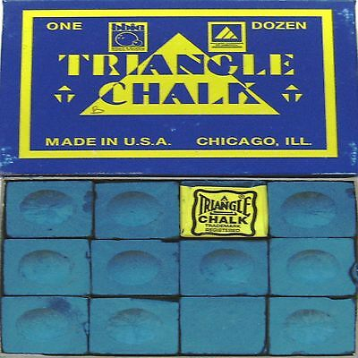 1 x BOX OF BLUE Triangle Snooker or Pool Cue Chalk !!! sep