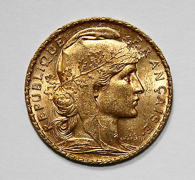 20 Franc Rooster Gold Coin Brilliant! 1904 - 1914