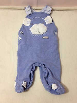 Baby Boys 0-3 Months Next Blue White Monkey Sleeveless Romper Outfit