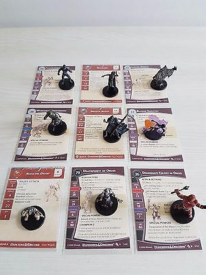 Dungeons and Dragons miniatures - 9 undead theme miniatures