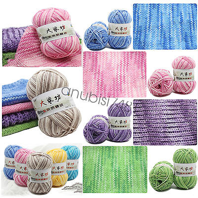 Chic 23 Colors Super Soft Smooth Cotton Knitting Yarn Baby Natural Wool Yarn XWJ