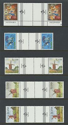 Aland 20 Euro era gutter pairs VF NH face value = 44.86 euros = $51 nice topics