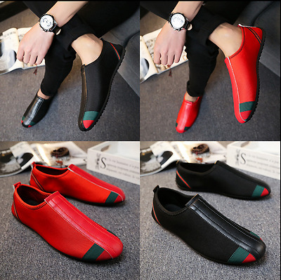 New Fashion  Leather Slip On Mens Driving Moccasin Loafer Casual Shoes