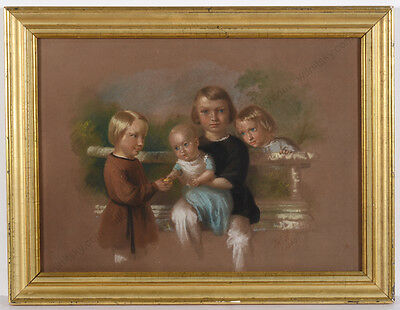 "Fedor Fedorovich (Friedrich Wilhelm) Andrezen ""Four little brothers"",pastel,1843"