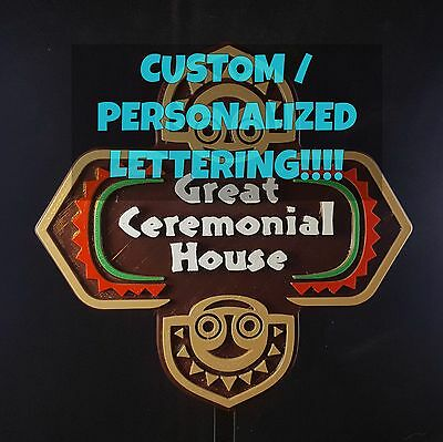 Personalized Polynesian Themed Longhouse Sign / Plaque - Custom Lettering!!!!!