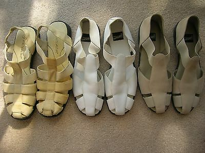 Lot of 3 Womens Summer Strap Beach Sandal shoes size 91/2 -10