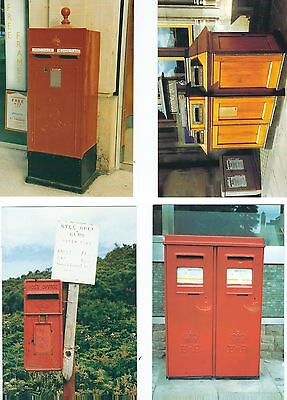 Another 4 Postcards  Postboxes Published David Shaw