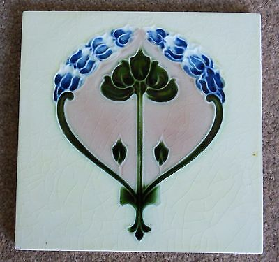 "Original  English  Art Nouveau tile , c1907/8 6""x6""Tile 1432 Last one."