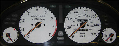 Dial Kit 44UUU2 ST Lockwood Toyota Celica ST182 1990-1994 Import 180MPH WHITE