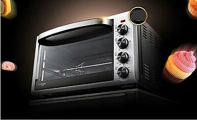 38L Home Commercial Black Multi-function Baking Tool Benchtop Electric Oven ^