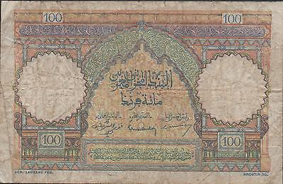 Morocco , 100 Francs , 10.11.1948 , P 45 , Series S. 12