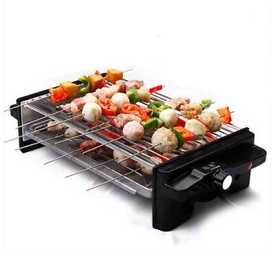 Commercial Smoke Free Non Stick Stainless Steel BBQ Double-Deck Electric Grill *