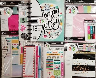 Create 365 The Happy Planner & Accessories Bundle by Mambi (Everyday Essentials)