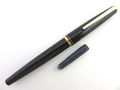 MONTBLANC Black & 14K Gold 585 Vintage Fountain Pen with Cartridge [975-2]
