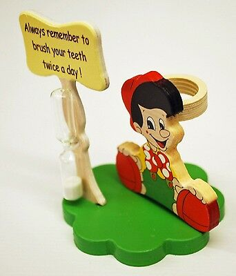 Pinocchio Toothbrush Holder with Toothbrush & Timer - Italian - Handcrafted