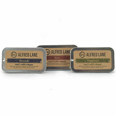 Alfred Lane Solid Cologne 3 Piece Set Deal -Bravado Brio and Vanguard (3x 0.5oz)
