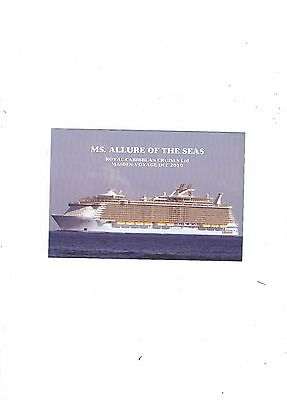 Postcard Of Ship  Allure Of The Seas