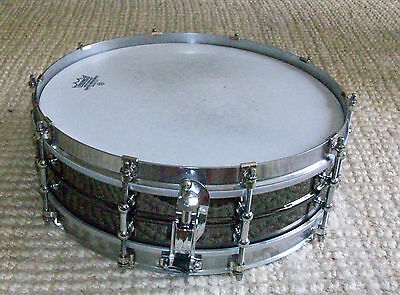 Worldmax 14x4 brass snare drum with SF hoops & Puresound snares