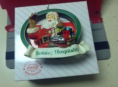 Holiday Hospitality Cavanagh COKE Coca Cola Santa Christmas Ornament 1995 In Box