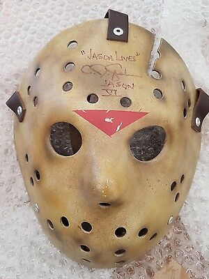 Signed Friday The 13Th Part Vi Mask Jason Voorhees