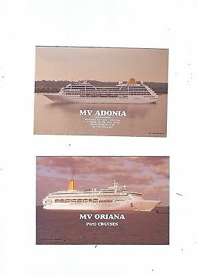 2 P;ostcards Of P And O Ships    Oriana  And Adonia