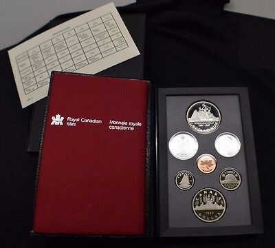 1987 Royal Canadian Mint Proof Set 7 Coins with Box & COA