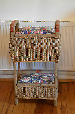 Vintage Fabric Double Layer Deluxe Designer Sewing Basket Box - From France