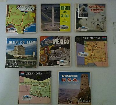 Sawyers Viewmaster Sets Lot 20 U.S. Cities, States & Over seas Texas Germany