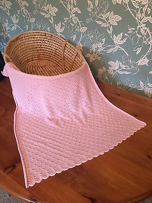 Soft lighweight 100% cotton baby blanket.  col. Ice Pink