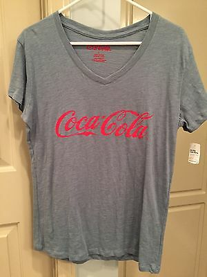 NWT Coca Cola Shirt V Neck-Ladies Fit Size Large