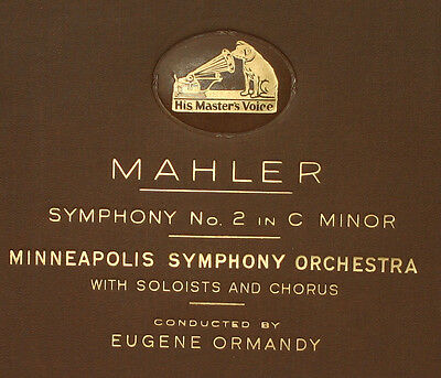 MINNEAPOLIS SYMPH.ORCH. & ORMANDY Mahler: Symphony  No. 2 in C Minor  78rpm A276
