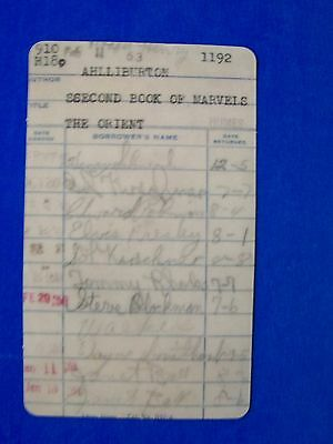 Elvis Presley Signed Library Card  Humes High School Library 1951