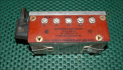 Vintage Bell System Type-D Relay Ks-16301 List 15 Wheelock Signals