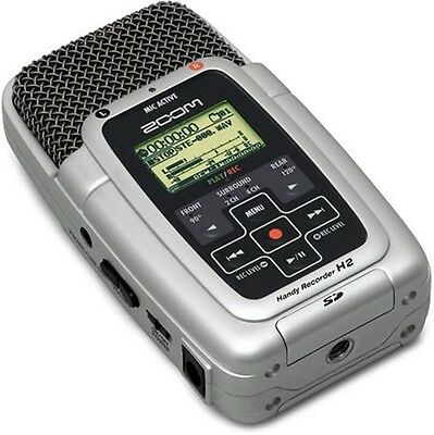 Zoom H2 Handy Multi Track Recorder Stereo Microphone 1Gb & Power Supply