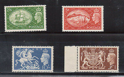 Great Britain #286 - #289 Extra Fine Never Hinged Set