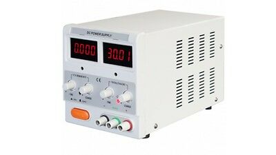 Adjustable Single Output DC Power Supply with 2 LED Displays 30V