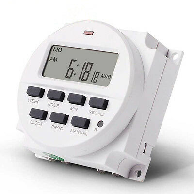Digital LCD Relay Switch Weekly Programmable Electronic Time Timer 12V Useful