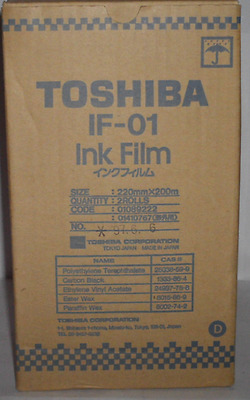 Original TOSHIBA Thermo Transfer Rolle  IF-01 Ink Film  für TF 511  OVP A