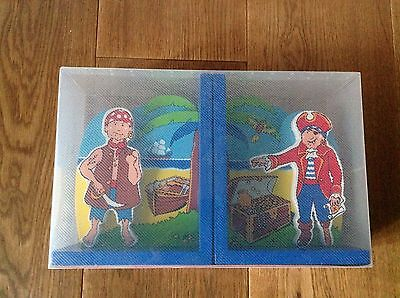 Pair Of Lanka Kade Pirate Wooden Bookends New Would Make A Lovely Gift
