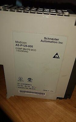 AEG MODICON P120 POWER MODULE MODEL: AS-P120-000, in excellent condition.
