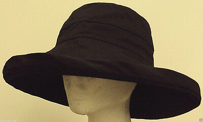 JEANNE SIMMONS LARGE Brim Canvas Bucket Hat-Cotton UPF 50+ UV Block ... 83031dd760be