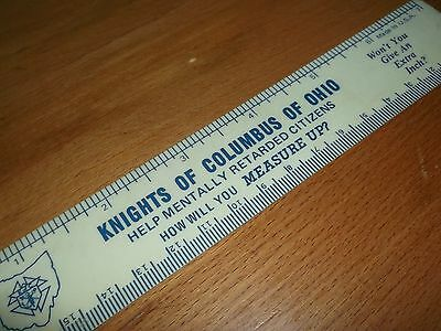 "Vintage Knights Of Columbus 6"" plastic Ruler How Will You Measure Up?"