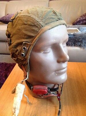 WW2 US Army Air Force Pilots Cap , Summer Helmet A-9