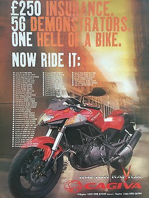 Cagiva V Raptor - Original A4 Colour Motorcycle Advert - Type 2