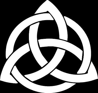 Celtic Knot Decal Car Window Irish Tribal Trinity Triquetra Cross Vinyl ANY SIZE