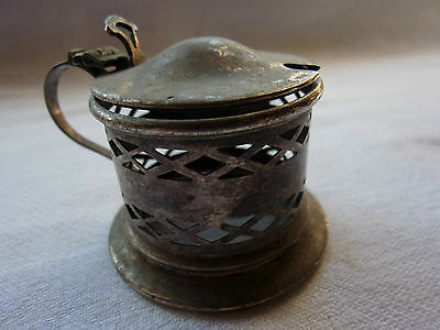 Vintage silver plated mustard pot - inner bowl missing