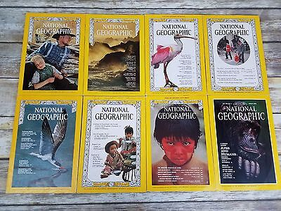 Vintage 1960's through 1990's National Geographic Magazine With Maps & Inserts