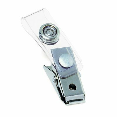Id Badge Clips With Strap - 10 Pack