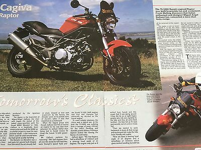 "Cagiva Raptor - Original 3 Page Motorcycle ""road Test"" Article"